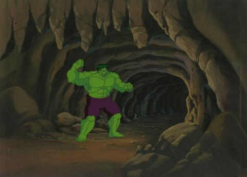 Incredible Hulk Production Cel and Background - ID: octhulk20455 Marvel