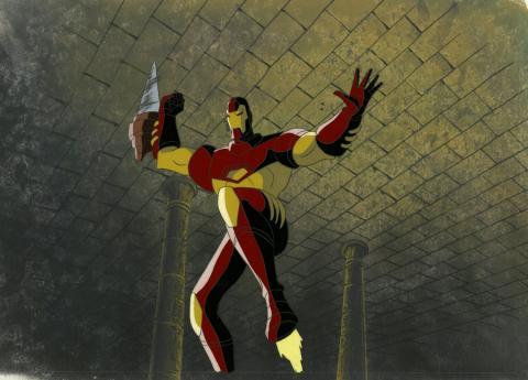 Iron Man Production Cel and Background - ID: octironman20361 Marvel