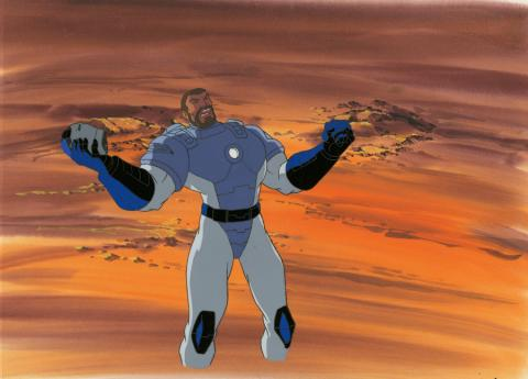 Iron Man Production Cel and Background - ID: octironman20383 Marvel