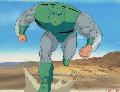 Iron Man Production Cel and Background - ID: octironman20392 Marvel