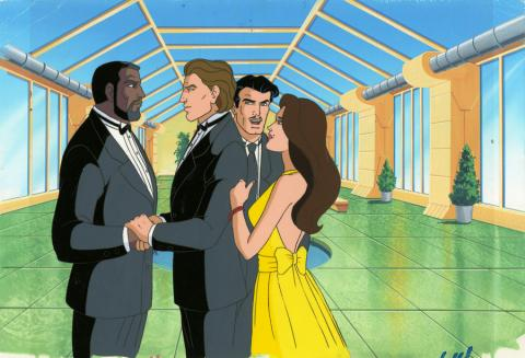 Iron Man Production Cel and Background - ID: octironman20400 Marvel