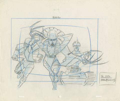 X-Men Layout Drawing - ID: octxmen20013 Marvel