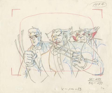 X-Men Layout Drawing - ID: octxmen20014 Marvel