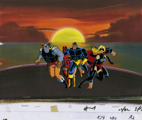X-Men Production Cel and Drawing - ID: octxmen20037 Marvel