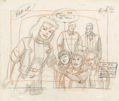 X-Men Layout Drawing - ID: octxmen20057 Marvel