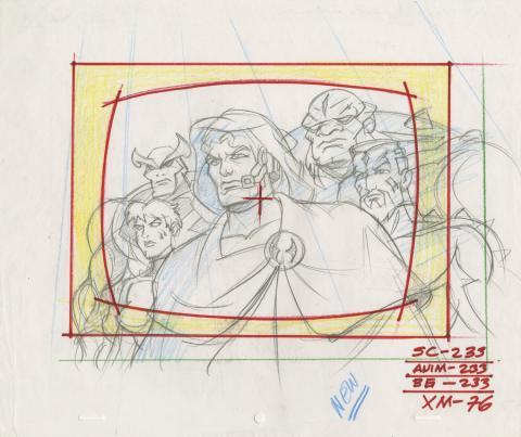 X-Men Layout Drawing - ID: octxmen20065 Marvel