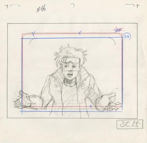 X-Men Layout Drawing - ID: octxmen20069 Marvel