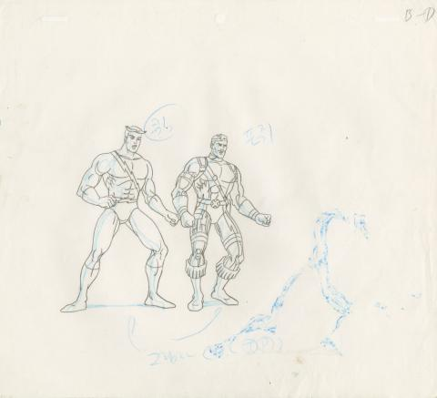 X-Men Production Drawing - ID: octxmen20070 Marvel
