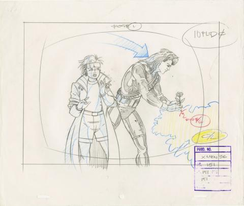 X-Men Layout Drawing - ID: octxmen20100 Marvel
