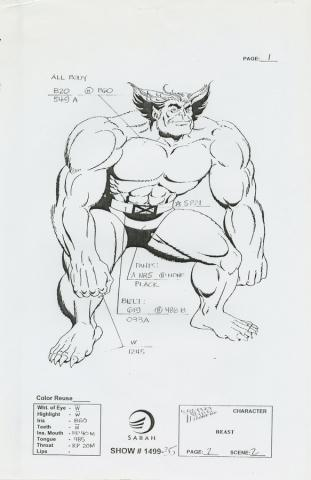 X-Men Xerox Model Sheet - ID: octxmen20103 Marvel