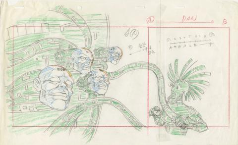 X-Men Production Drawing - ID: octxmen20131 Marvel