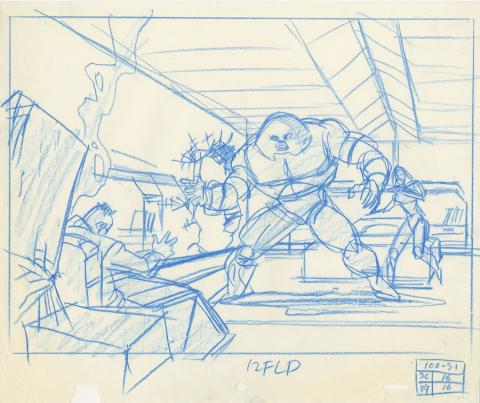 X-Men Production Drawing - ID: octxmen20134 Marvel