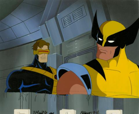 X-Men Production Cel and Background - ID: octxmen20214 Marvel