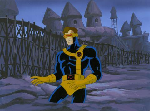 X-Men Production Cel and Background - ID: octxmen20224 Marvel