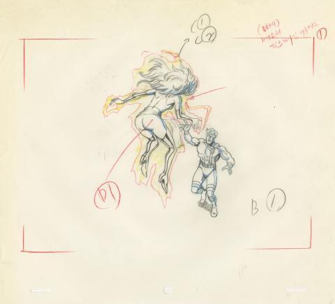 X-Men Layout Drawing - ID: octxmen20472 Marvel