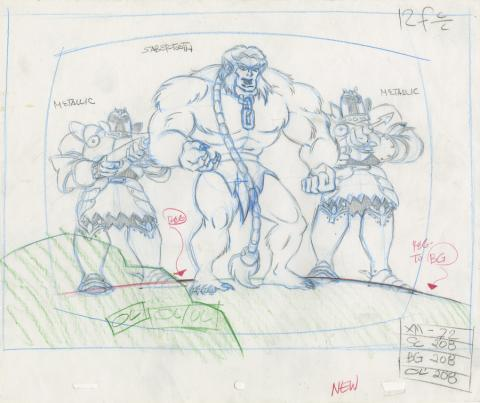 X-Men Layout Drawing - ID: octxmen20477 Marvel