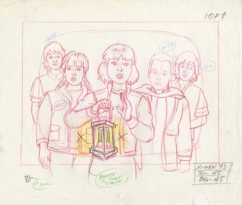X-Men Layout Drawing - ID: octxmen20478 Marvel