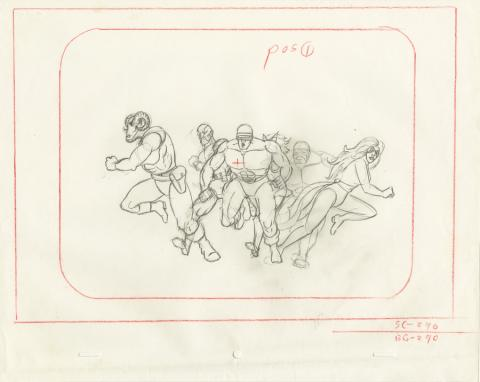 X-Men Layout Drawing - ID: octxmen20479 Marvel