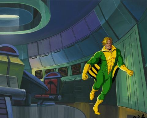 X-Men Production Cel and Background - ID: octxmen20748 Marvel