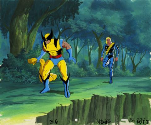 X-Men Production Cel and Background - ID: octxmen20761 Marvel