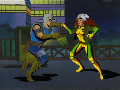X-Men Production Cel and Background - ID: octxmen20764 Marvel