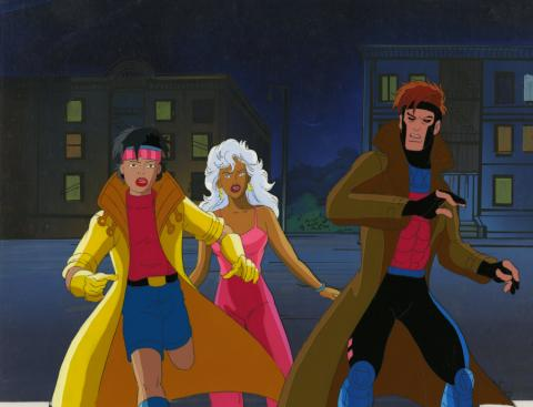 X-Men Production Cel and Background - ID: octxmen20771 Marvel