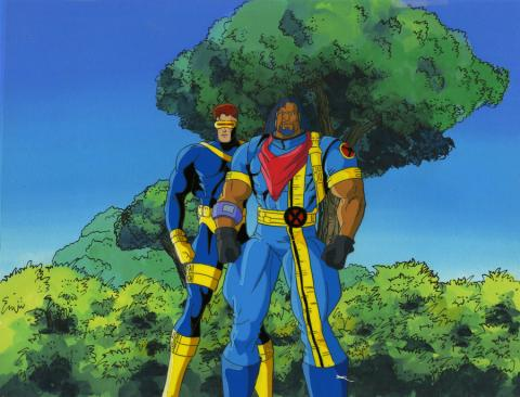 X-Men Production Cel and Background - ID: octxmen20780 Marvel