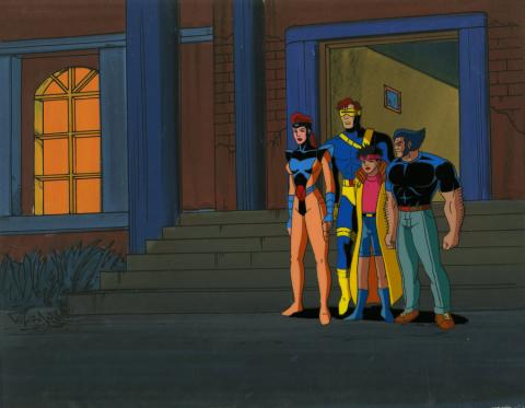 X-Men Production Cel and Background - ID: octxmen20783 Marvel