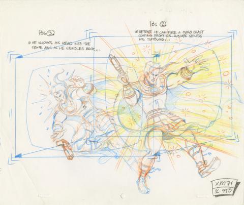 X-Men Production Drawing - ID: octxmen20798 Marvel