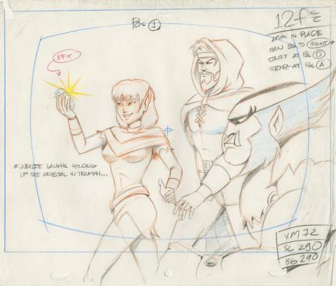 X-Men Production Drawing - ID: octxmen20812 Marvel