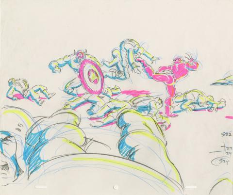X-Men Production Drawing - ID: octxmen20815 Marvel