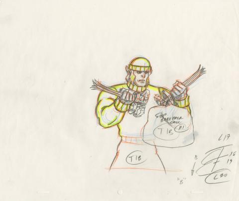 X-Men Production Drawing - ID: octxmen20817 Marvel