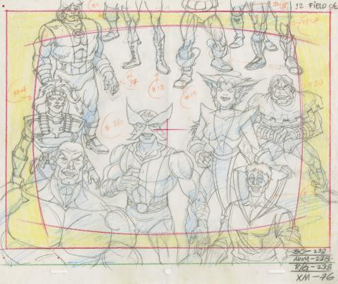 X-Men Production Drawing - ID: octxmen20826 Marvel