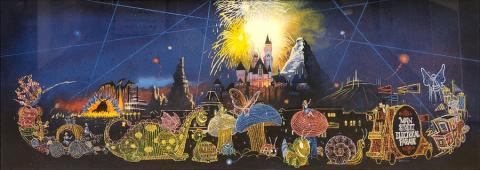 Main Street Electrical Parade Signed Charles Boyer Print Disneyana