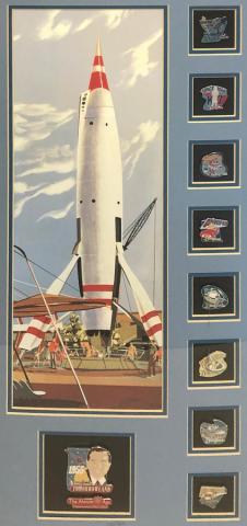 The Atomic Age Limited Edition Pin and Print Set - ID: septdisneyana20005 Disneyana