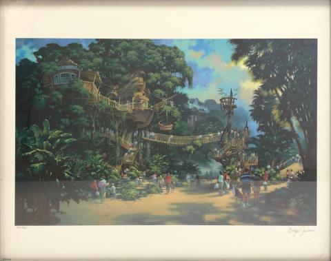 Tarzan's Treehouse Concept Art Print - ID: septdisneyana20024 Disneyana