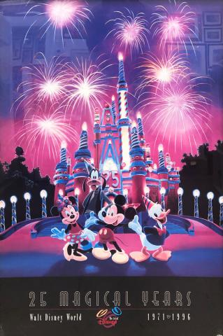 Walt Disney World 25 Magical Years Poster - ID: septdisneyana20029 Disneyana