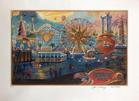 Paradise Pier Cast Member Exclusive Tim Delaney Signed Lithograph - ID: septdisneyana20038 Disneyana