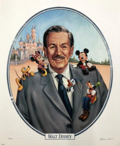 Walt Disney's 100th Birthday Cast Member Exclusive Lithograph - ID: septdisneyana20040 Disneyana