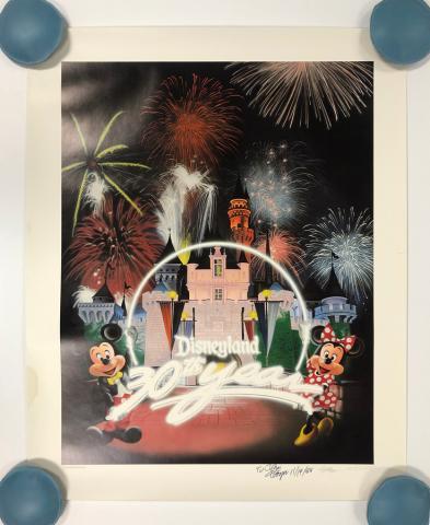 Disneyland 30th Anniversary Limited Edition Print - ID: septdisneyana20063 Disneyana