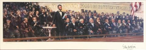 Lincoln Limited Edition Signed by Sam McKim - ID: septdisneyland20003 Disneyana