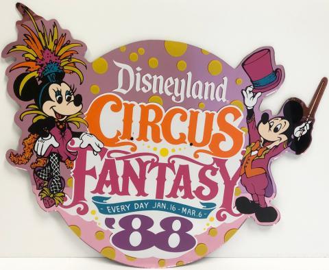 Circus Fantasy Lamppost Sign - ID: septdisneyland20009 Disneyana