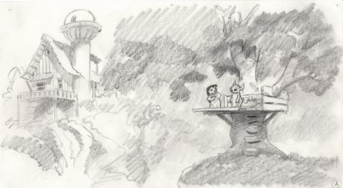 Lilo and Stitch Storyboard Drawing - ID: septlilo20050 Walt Disney