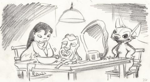 Lilo and Stitch Storyboard Drawing - ID: septlilo20052 Walt Disney
