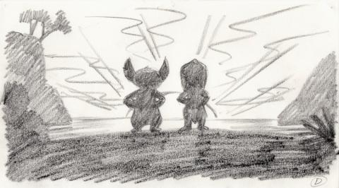 Lilo and Stitch Storyboard Drawing - ID: septlilo20053 Walt Disney