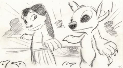 Lilo and Stitch Storyboard Drawing - ID: septlilo20054 Walt Disney