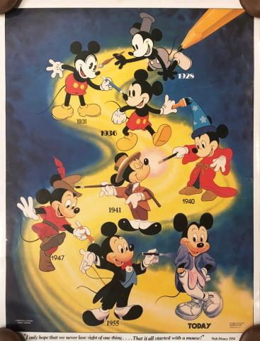 Mickey Through the Years Poster - ID: septmickey20047 Walt Disney