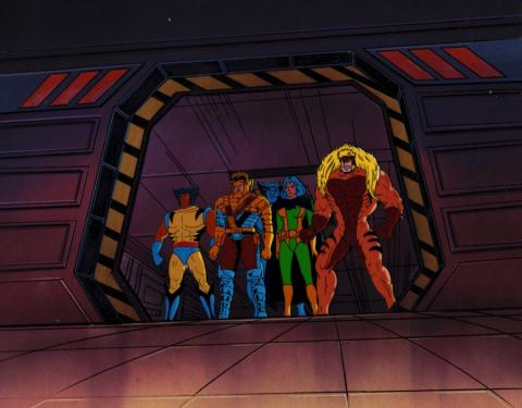 X-Men Production Cel & Background - ID: xmen32012 Marvel