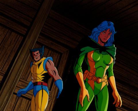 X-Men Production Cel & Background - ID: xmen32014 Marvel