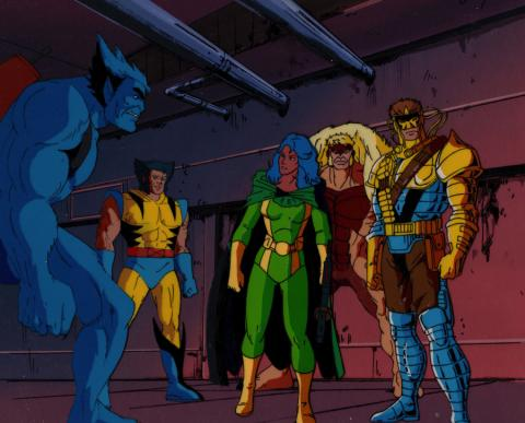 X-Men Production Cel & Background - ID: xmen32047 Marvel